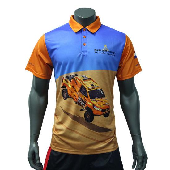 Healong Customized Dry Fit Wholesale Polo Shirt Polyester Sublimated Polo Tshirt Digital Printing Polo Shirt