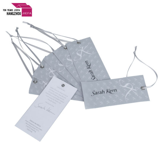 Classic Custom White Paper Apparel Clothing Hang Tag for Garment