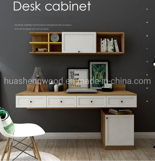 Wall Mounted Computer Desk and Dresser