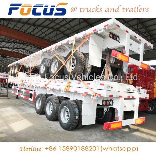 Brand New 12 Wheels 3 Axles 40FT Semi Trailer for Transportation