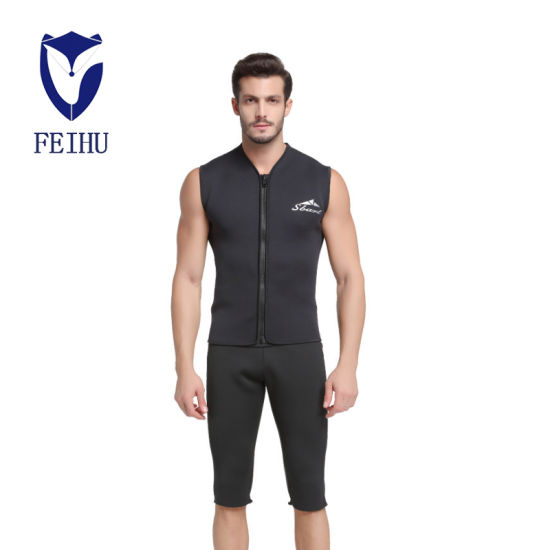 Cold-Proof Winter Swimming Jacket Swimsuit Split Zipper Surfing Suit 5 mm Sleeveless Snorkeling Suit Warm Vest