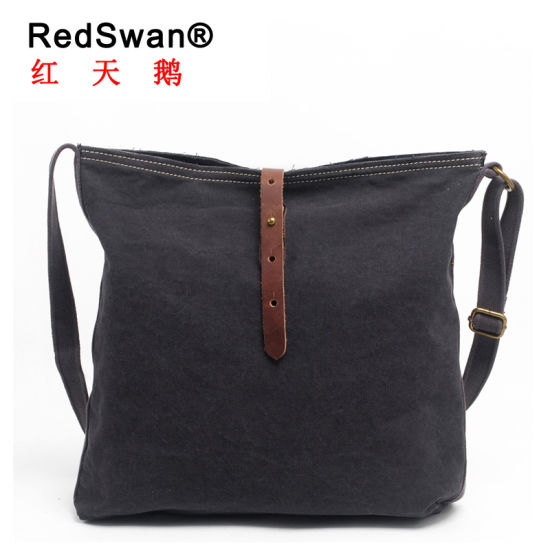Redswan Unisex Designer Cheaper Canvas Outdoor Travel Small Crossbody Shoulder  Bag (RS-6012) 7739af90c4e2b