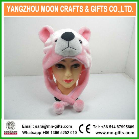China Plush Bear Head Winter Hat - China Plush Hat 21dd0d54d063
