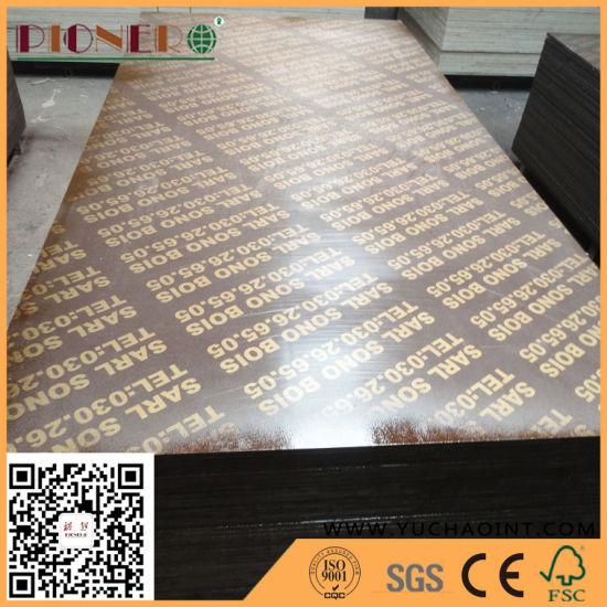China Linyi Film Faced Plywood Shuttering Plywood for Connstruction