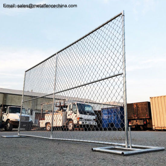Galvanized Construction Barrier Temporary Chain Link Fence Panels pictures & photos