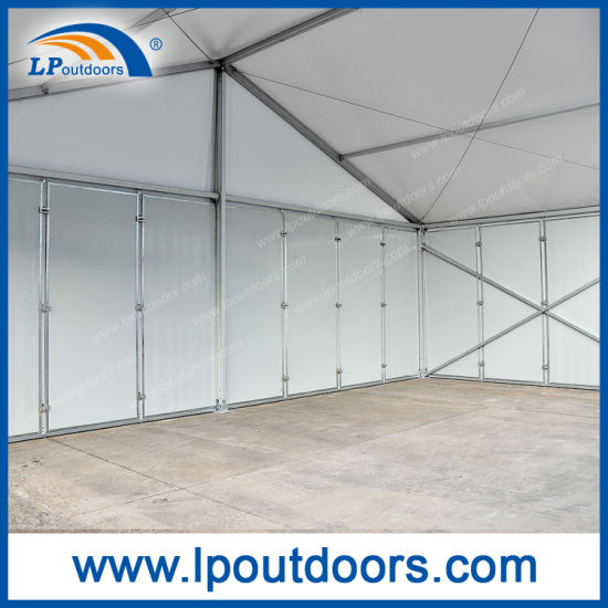Outdoor Clear Span Roder Style Marquee Storage Tent with Sandwich Wall for Sale pictures & photos