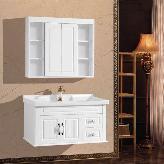 Wall Mounted Wooden Bathroom Vanity