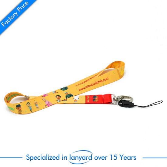 Custom Factory Price Screen Printed Phone Lanyard Strap pictures & photos