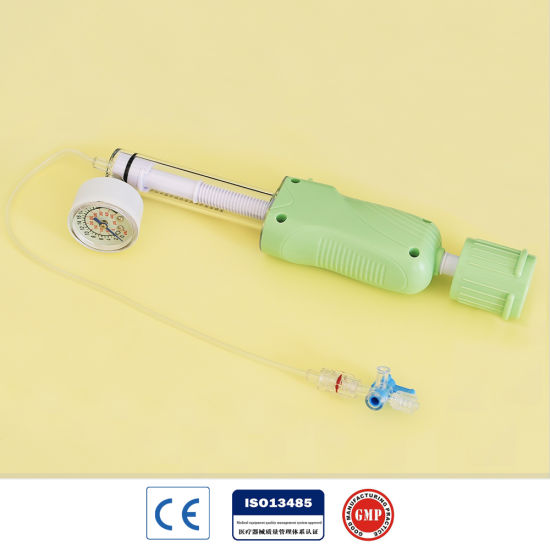Disposable 30ATM Balloon Inflation Device with Ce Mark