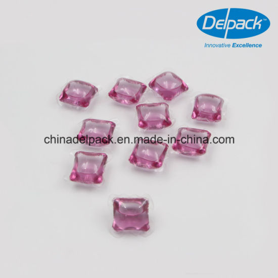 OEM&ODM 15g with Purple Dyes Laundry Washing Detergent Pod, Concentrated Laundry Liquid Detergent Capsule pictures & photos