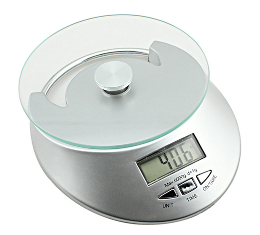Digital LCD Electronic Household Scale and Food Scale with Clock