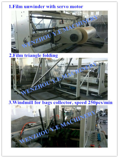 Plastic Square Bottom Wicket Bag Making Machine 250PCS/Min pictures & photos