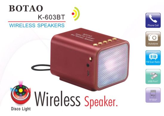 New Arrival China Factory USB Radio Wireless Speaker with Discro Lights TF Card Slot pictures & photos