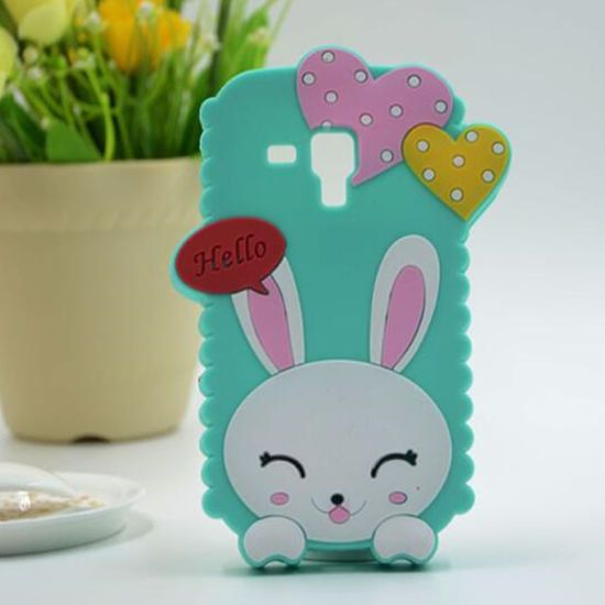 Cute 3D Rabbit Bunny Silicone Gel Phone Case pictures & photos