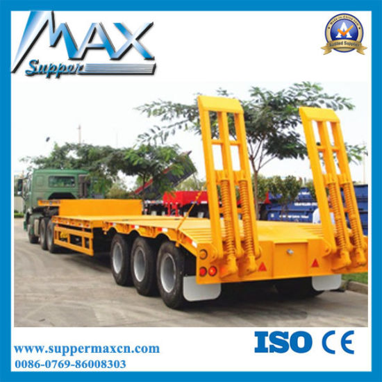 Hot Selling 30t 2 Axles Lowbed Semi Trailer From China Factory pictures & photos