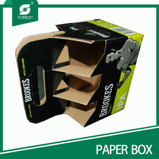 Hot Sale Single Wall Corrugated Cardboard Beer Box pictures & photos