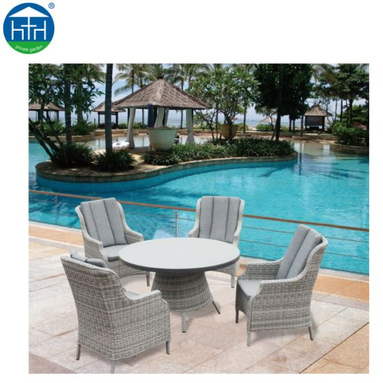 Outdoor Furniture Square PE Rattan Dining Set Table and Chairs pictures & photos