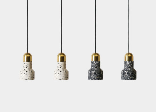 Pastoral Style Cement Terrazzo Cafe Bar Hanging Pendant Light for Wholesale