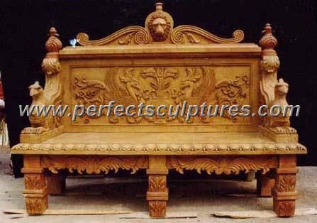 Antique Garden Chair with Stone Marble Granite Limestone (QTC008)