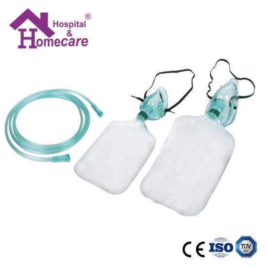 Medical PVC Non-Rebreathing Oxygen Mask with Reservoir Bag
