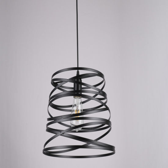 Wholesale Loft Industrial Metal Black Screw Shape Chandelier Pendant Lights
