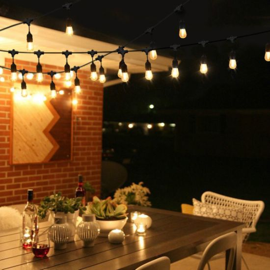 Waterproof 10m 10 LED String Lights Indoor Outdoor Commercial Grade E26 E27  Street Garden Patio Backyard Holiday String Lighting
