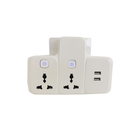 Wholesale 2.1A USB Universal Travel Adapter Multi Socket to Two Pin 10A Power Plug Adapter Converter