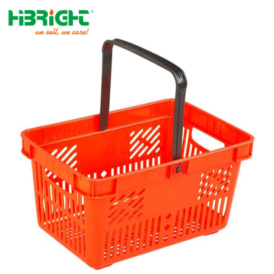 Single Handle 30L Grocery Store Shopping Basket pictures & photos