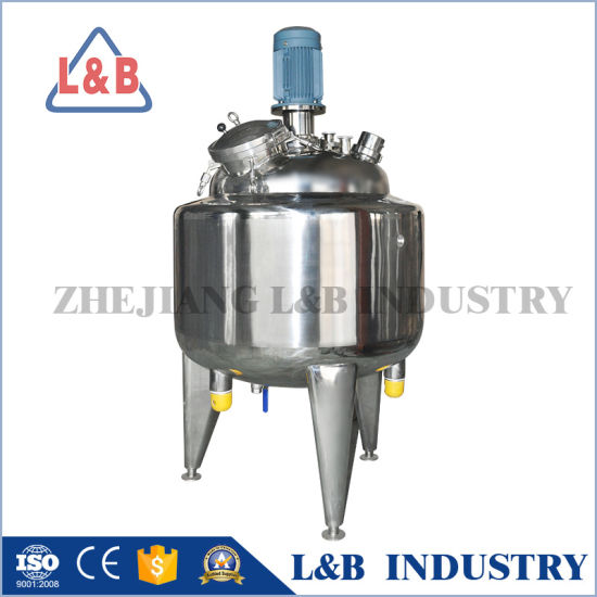 Jacketed Stainless Steel Mixing Tank with Agitator pictures & photos