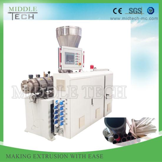 China Wholesale Price Plastic PVC Tube/Pipe Conical Screw Extruder Machine