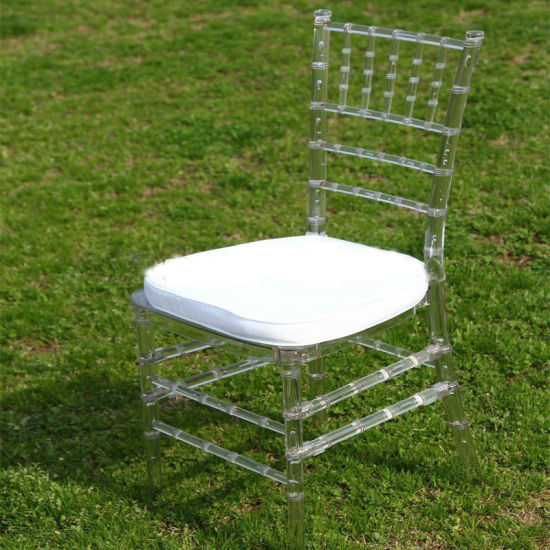 Clear Resin Tiffany Chair with Cushion