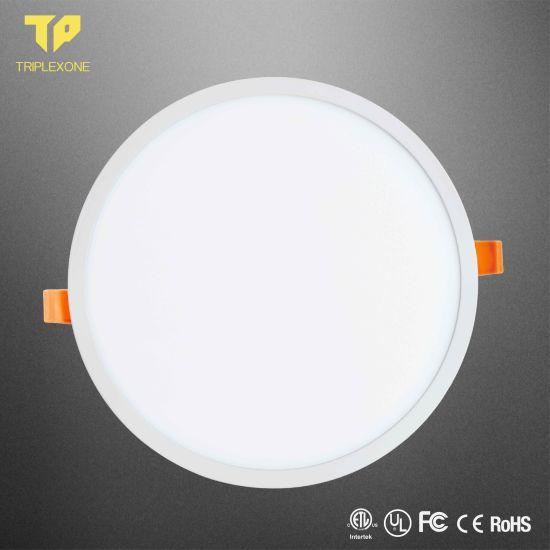 12W 18W 24W 36W AC85-265 Round Recessed Thin Ceiling Frameless LED Panel Light
