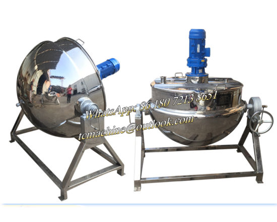 Oil / Steam Jacketed Cooking Kettle with Mixer