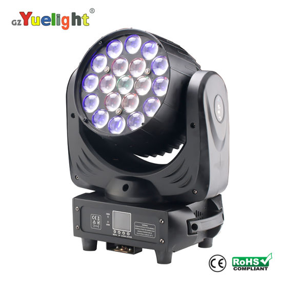 DJ LED Moving Head 19PCS LED Head Light with Zoom