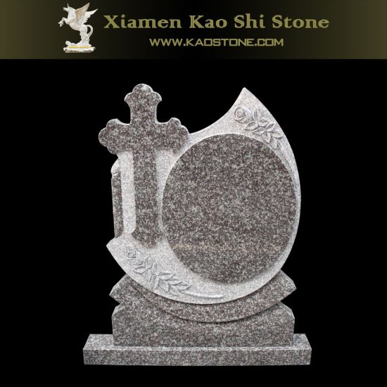 Cheap Natural Cross Granite Headstone for Cemetery pictures & photos