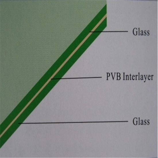 Safety Laminated Building Glass with Ultra Clear PVB Film