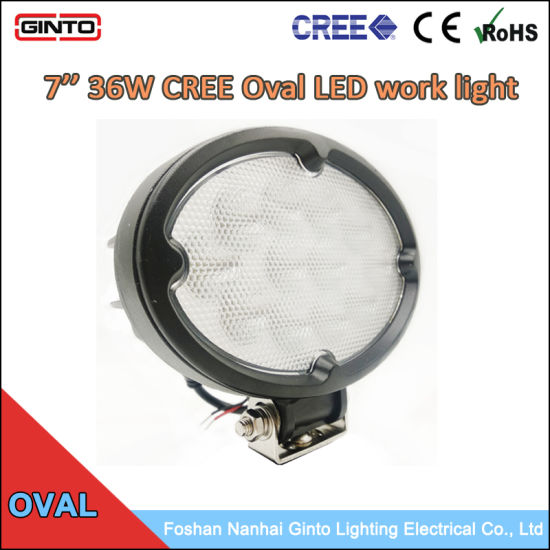 Auxiliary LED 36W Oval Spot Flood LED Work Light for Agri Machinery