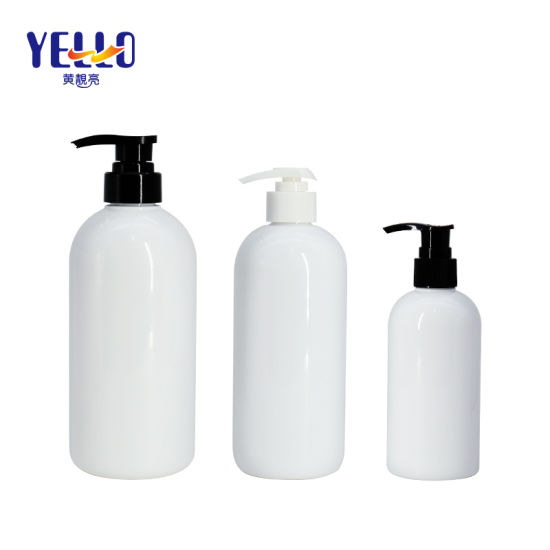 Cosmetic Packaging 250ml 500ml 700ml Pet White Shampoo Lotion Pump Bottle