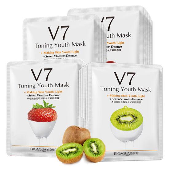 Deep Cleansing Sheet Mask Acne Treatment Pore Cleanser Facial Mask Blackhead Remover Fruit Mask Moisturizing Whitening Skin Care