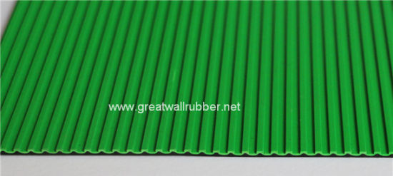 Ribbed Rubber Sheet/ Rubber Mat with, ISO9001, Reach Certificates