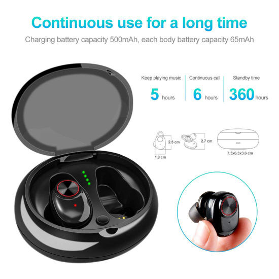 China Tws 5 0 Sport Automatic Connection Wireless 3d Stereo Bass Sound In Ear Headset Bluetooth Earbuds Earphones China Tws Bluetooth Earphone And Portable Bluetooth Earphone Price