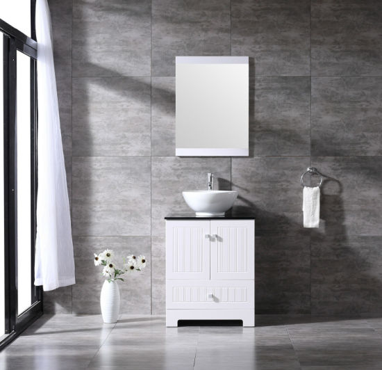 China 24inch Single Bathroom Vanity Pvc Cabinet Ceramic Vessel Sink Faucet Combo Sets China Bathroom Vanity Unit Bathroom Furniture