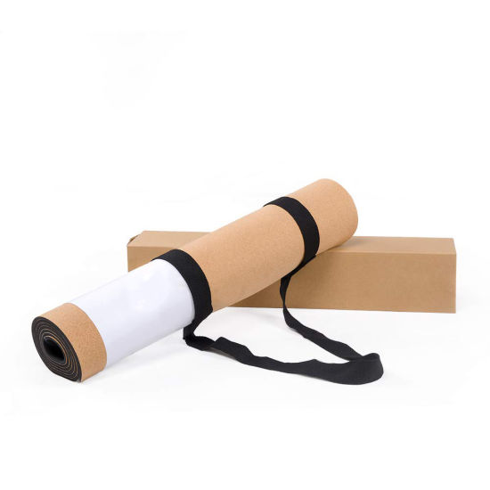 Home Gym Use Yoga Product Cork Sport Yoga Mats with Custom Logo Printed
