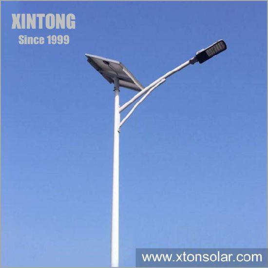 Conical Octagonal Parking Lot LED Soalr Street Poles Material 20FT