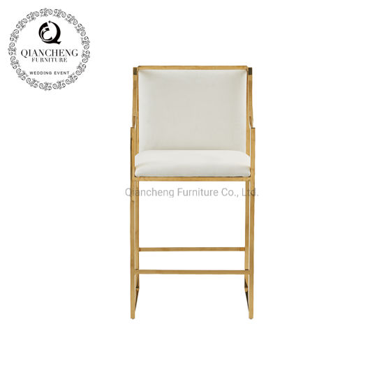 Gold Bar Chair Stainless Steel Furniture for Wedding