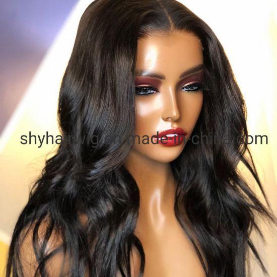 China Natural Wavy Glueless Full Lace Baby Hair Human Hair Artificial Wigs With Elastic Band For Sale China Glueless Full Lace Wigs For Black Women Elastic Bands