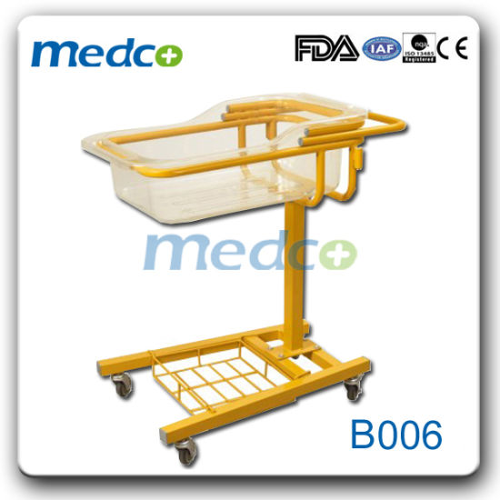 Hospital Metal Swing Metal Plastic Baby Crib with Ce&ISO