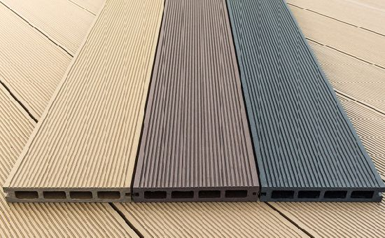 Synthetic Wood Plastic Patio Floor Cheap Chinese Composite Decking Grey  Wood Flooring