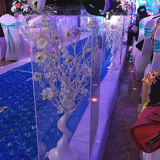China Square Acrylic Wedding Flower Display Stand