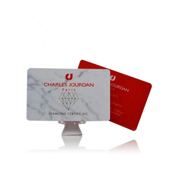 ISO18000-6c EPC Gen2 Chip PVC Blank UHF RFID Parking Card